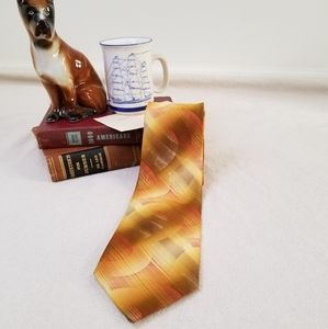 Wembly vintage retro tie shades of yellow